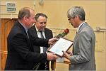 Присвоение звания 'Почетный профессор ОГУ' Такаюки Эбата (Япония). Открыть в новом окне [62 Kb]
