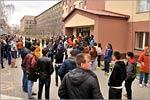 Эвакуация студентов ОГУ в рамках командно-штабных учений. Открыть в новом окне [126Kb]