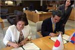 Подписание бессрочного договора о сотрудничестве между ОГУ и Университетом Хиросимы
