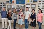 Vitaliy Berdinskiy, Lyudmila Dokashenko, Kitamura Megumi — lecturer of Japanese in OSU and the students