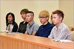 Students-trainee from Hiroshima University