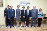 Meeting of HTWK Leipzig Rector Gesine Grande with OSU administration