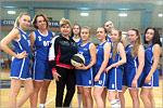 Женская сборная ОГУ по баскетболу с тренером Еленой Витун