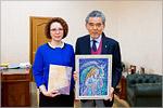 Ректор ОГУ Жанна Ермакова и президент Университета Хиросимы Мицуо Очи
