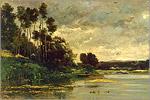 Ш. Добиньи. Берег. Масло. 1866