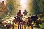 К. Тройон. Отправление на рынок. Масло. 1859