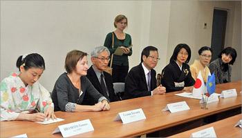 Встреча японской делегации с ректором ОГУ