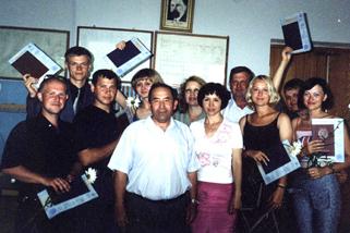 Первый выпуск инженеров-строителей по специальности ГСХ (2002г.). Открыть в новом окне [89КБ]